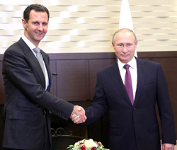 Vladimir Putin and Bashar al Assad